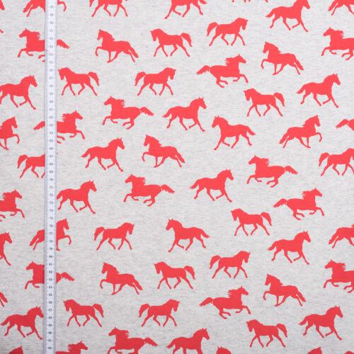 Pferd Ecru Meliert / Rot