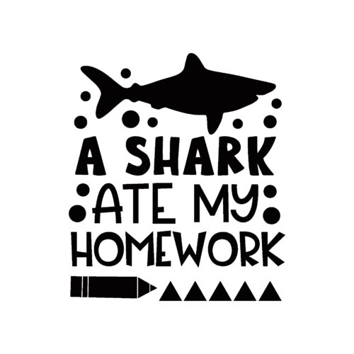 A shark ate my homework